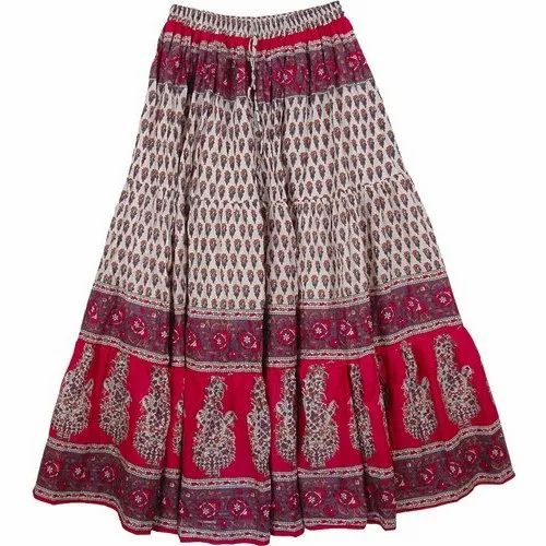 Free Size Casual Wear Girls Cotton Long Skirts, Rs 250 /piece Tip Top  Fashions   ID: 20493043233