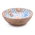 Hand Painted Print Wood Decorative Enamel Serving Bowls