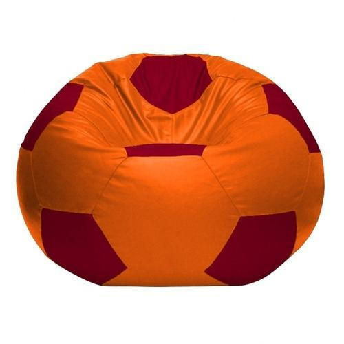 Leatherette Round Football Bean Bag Cover Size L Xl