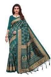 Fancy Mysore Art Silk Saree With Jahlar