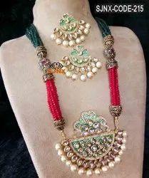 Pink Satyam jewellery Nx Artificial Necklace Set