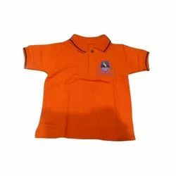 Summer Orange Polyester School T Shirts, Packaging Type: Packet