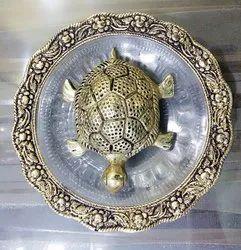 Silver White Metal Kachua Plate