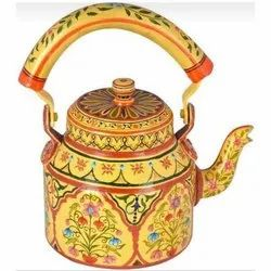 Stainless Steel Round Hand Painted Tea Kettle