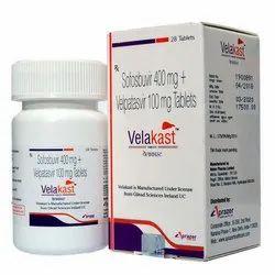 Velakast Sofobuvir 400Mg And Velpatasvir 100Mg Tablets