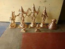 12 inches Sri Ram Sita Lakshmana Hanuman Ramanujar Nammazhwar & Sadari