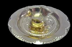 Five Face Diya with Plate