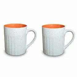 Ceramic Ribbed Coffee Mug