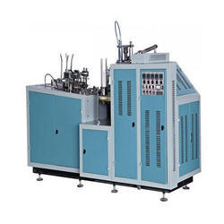 Stainless Steel Semi Automatic Paper Cup Making Machine, Production Capacity: upto 85 Cups Per Min