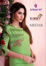 Silk Casual Wear Mehar Kurti by Arihant