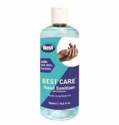 Ethyl Alcohol Based Hand Sanitizer, Size : 500 ml, Packing Type : Bottle with Flip Top Cap