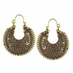 Golden Oxidized Earrings, Packaging Type: 12 Pieces