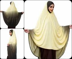 Islamic Wear 2 Shade Instant Stitched Abaya Hijab