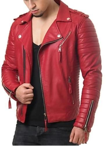 734b7ddf Mens Red Leather Jackets