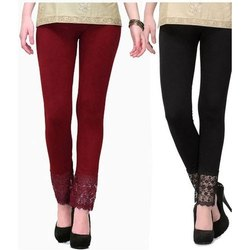 f632696ca1d754 Cotton Churidar Ladies Fashionable Plain Legging
