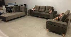 Modern Brown Designer Sofa Set, For Home, Living Room