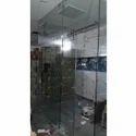Plain Bathroom Shower Glass Partition, Shape: D-shaped