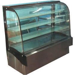 Curved Glass Cakes Display Counter