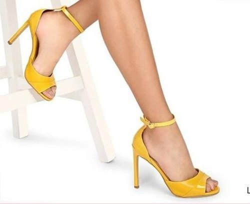 3c6125ec85c6 No Yellow High Heel Sandal
