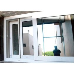 Sliding Residential UPVC Window, Thickness of Glass: 8 - 10 mm