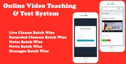 Online Video Teaching & Test System Website