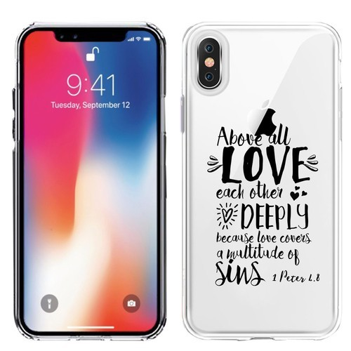 competitive price 8331d 20df4 Clear Transparent Case For Iphone X / Xs Printed With Embossed Effect