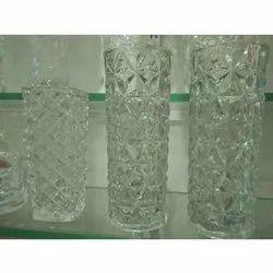 Glass Vase, Shape: Round