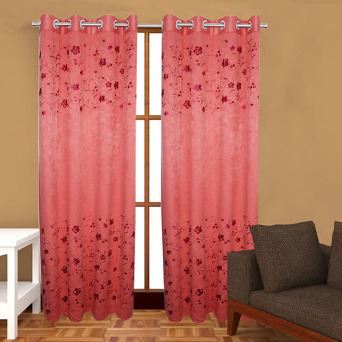 Red Standard Allure Space Colour Designer Embroidery Door Curtain