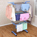 Kawachi Stainless Steel Heavy Duty Double Pole Cloth Drying Stand