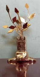 Golden Brass Tulsi Plant, Size/dimension: 4 Inch