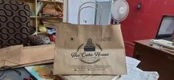 Handled Brown Cake/ Pizza Paper Bags, Bag Size: Standard