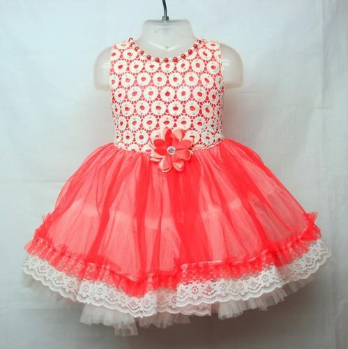 5aa5fa452650 Designer Frocks - Barbie Fancy Girls Cotton Frock Exporter from Mumbai