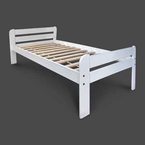 Solid Wood King Size White Bed Size 72 X 78 Inch Rs 17999 Piece