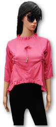 Fancy 3/4th Sleeve Rayon Tops, Size: XL