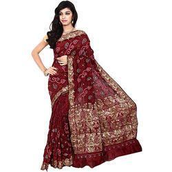 Fancy Dupion Bandhej Saree