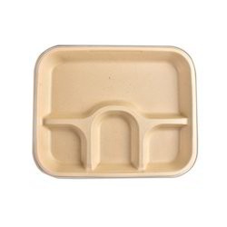 4 Compartment Bagasse Tray