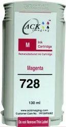 ACK Imaging 728 130-Ml Remanufactured Magenta Designjet Ink Catridge
