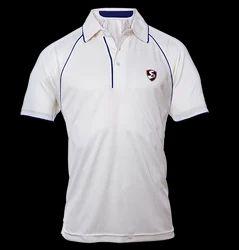 SG Cricket White Half Sleeves T-shirt Premium