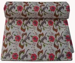 Hand Block Printed 100 % Cotton Fabric Floral Sanganeri Print