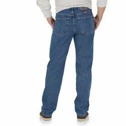 Plain Loose Fit Mens Denim Jeans