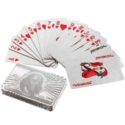 Silver Foil Playing Cards Dollar
