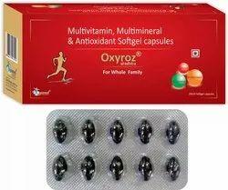 Oxyroz Multivitamin Multimineral Antioxidant Softgel Capsule, Packaging Type: Blister