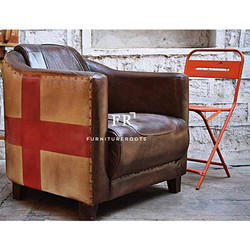 Bespoke Hotel Bar Leather Armchair for Resort & Hotel Dining Areas