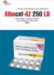 Cefixime 200mg Azithromycin-250  LB TABLET