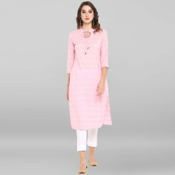 Pink Pure Cotton Kurta