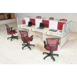 6 Seater Linear Workstation