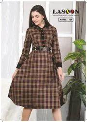 5012 Fancy Woolen Kurtis