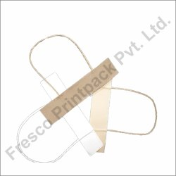 White & Brown Twisted Paper Handle