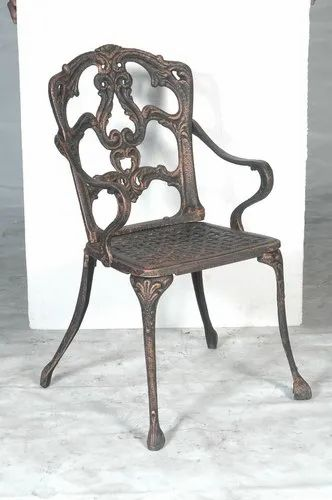 Metal Polished Cast Iron Garden Chairs