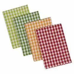 Check Cotton Dish Cloth Set